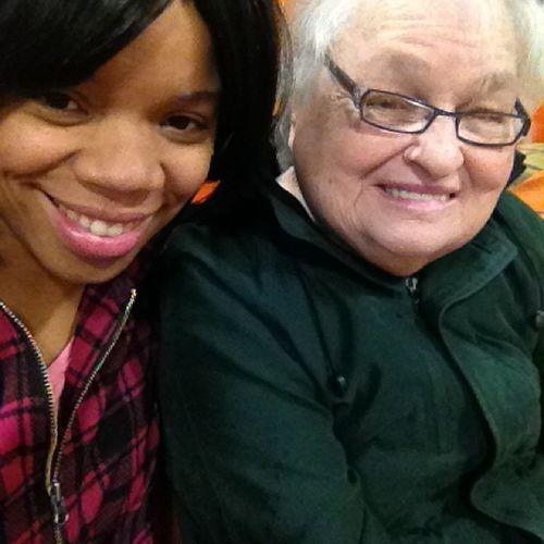 Joyce and I at my sons school Lovemyjojo