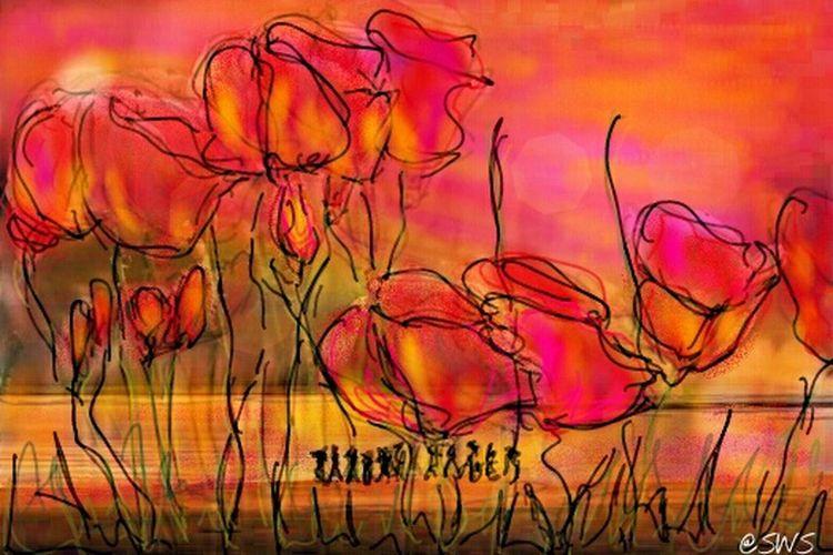 Art, Drawing, Creativity ArtWork Flowers Art My Painting Amapola #Flower Coquelicot Amapola FlowerAmapolas Amapola