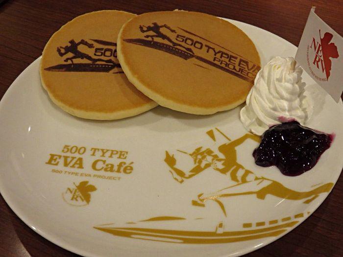 Evacafe Cafe Eva Hotcakes! Hotcakes Hotcake Pancakes Pancake Sweets Sweetsmile Evangelion Anime