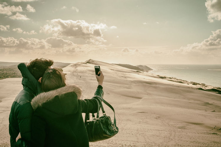 Artificial Look Atlantic Ocean Clouds Clouds And Sky Couple Dune Dune Du Pilat Dunes France Landscape Landscape_Collection Landscape_photography Landscapes Love Ocean Sand Sand Dune Selfie Sky Sky And Clouds Skyporn The KIOMI Collection Two People Vacation Up Close Street Photography