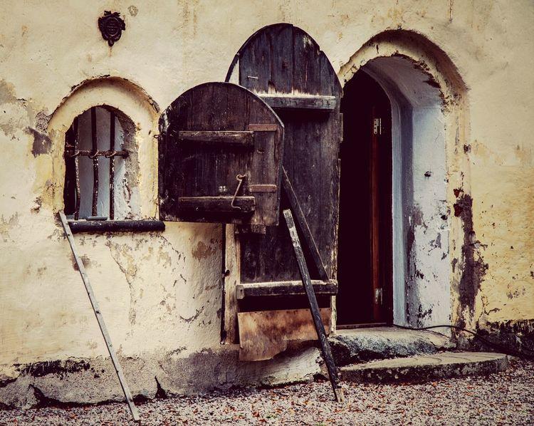 Old Building Door Window