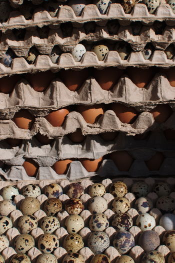 Scenes and details from Kanoman Market, Semarang. December 2017. Documentary Photography Farmers Market Traditional Market Abundance Arrangement Backgrounds Close-up Day Details Egg Egg Carton Food Food And Drink Freshness Full Frame Indoors  Large Group Of Objects No People Shelf Stack Streetphotography