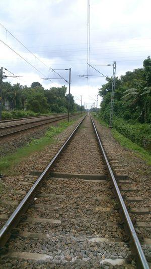 Railway track India Kerala Train Tracks Railway Track Going Forward  Journey Endless