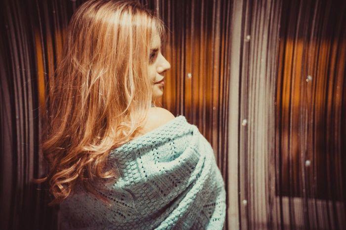 Girl Blond Beauty Smile Hair Night