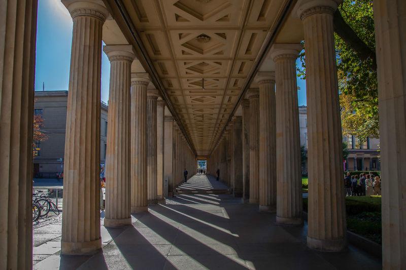 Columns In Corridor
