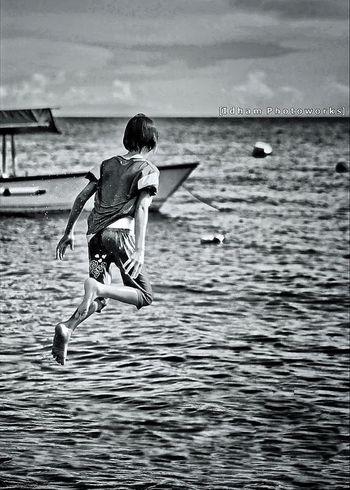 Floating kid..