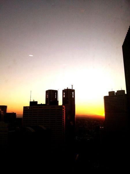 Japan Sinjuku Tokyo 夕日 夕焼け 黄昏 Sunset Pmg_tok