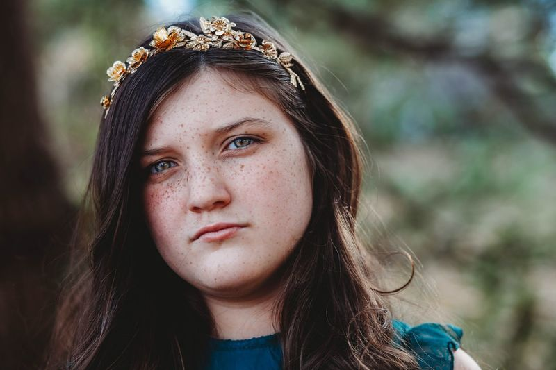 Maybe she's a wildflower. -Alice in Wonderland Portrait Headshot Real People Looking At Camera One Person Front View Lifestyles Focus On Foreground Leisure Activity Women Close-up Girls Hair Teenager Young Women Young Adult Hairstyle Long Hair Day Child