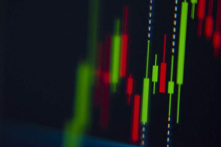 Stock chart Stock Chart Close-up Diagram Green Color Technology Multi Colored Black Background Graph Business Copy Space Number Indoors  Data Studio Shot No People Abstract Red Arts Culture And Entertainment Selective Focus Equipment Corporate Business