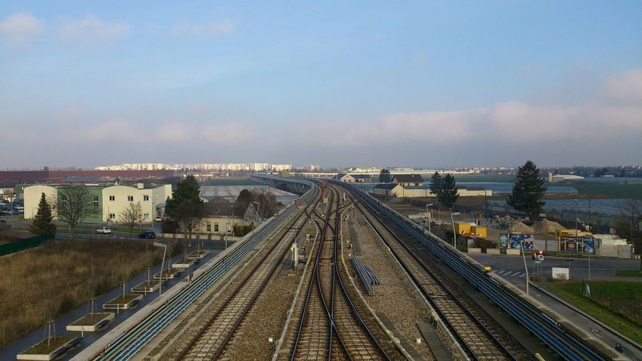 Elevated View Of Railroad Tracks