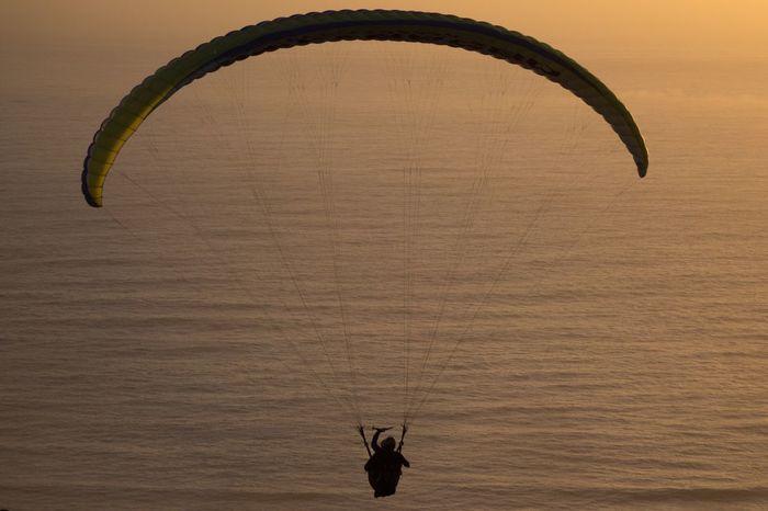 Nature Day Close-up Sunset Paragliding Radical Sport