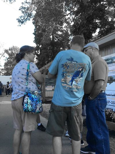 Ohio, USA County Fair Outdoors Ohio Blue Color Filter People And Places People People Watching Summer Chance Encounters
