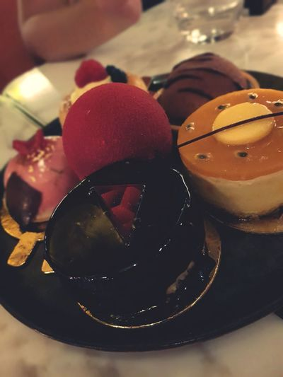 Monaco nights. Maya Jah ❤ Passion Fruit #photography Family Matters #restaurant #beautiful #Husband And Wife ❤️ #love #Happiness #followme #newtothis #EyeEmNewHere EyeEm Selects Dessert Sweet Food Food And Drink Dark Chocolate Chocolate Cake