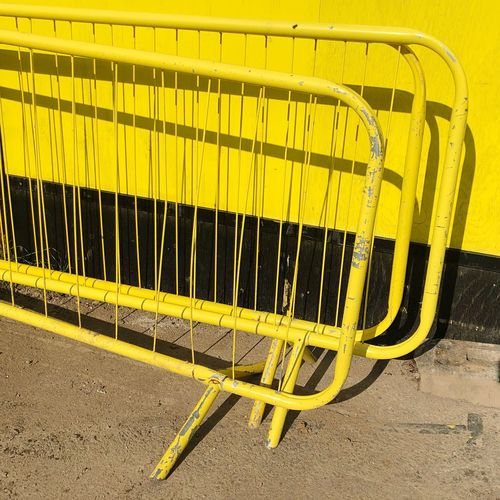 yellow railings