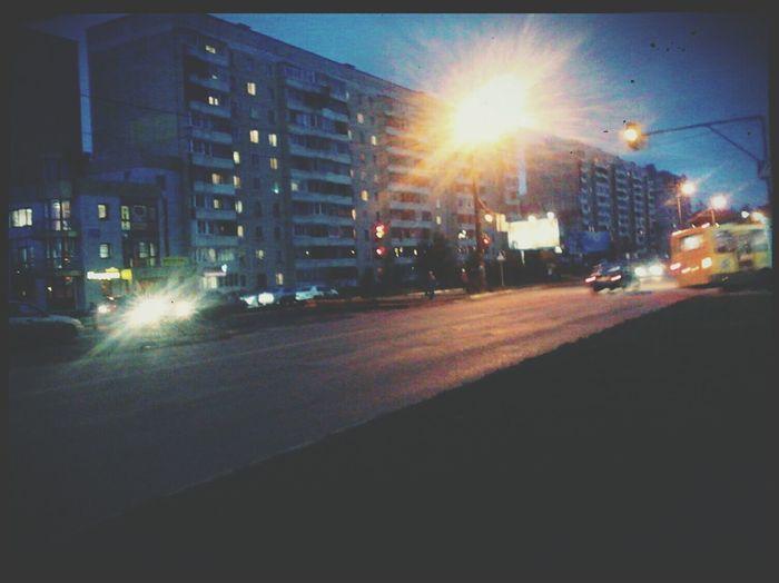 Taking Photos Nightphoto Lights Road