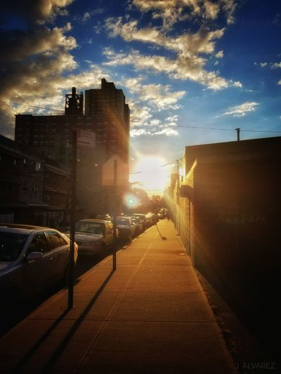 Street Sunlight City Sky Cloud Cloud - Sky Sun Day Hanging Out Relaxing Morning Sunrise Taking Photos Enjoying Life Photography Cloudy Hello World Dramatic Sky Sunset And Clouds  Nature_collection Skyscape Cloud Sky And Clouds Bronx, New York Sunrise_sunsets_aroundworld