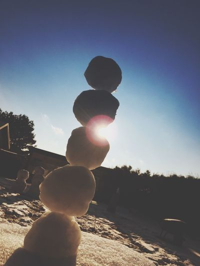 Winter Sun Sunlight Lens Flare Snow Snowman Snowball Creativity Creative Enlightapp Postprocessing Outdoors Outdoor Photography Cold Winter ❄⛄ Cold 2016 IPhoneography Iphone6 Iphonephotography Frozen Cold Winter Wintertime Enlight Enlight App Frosty