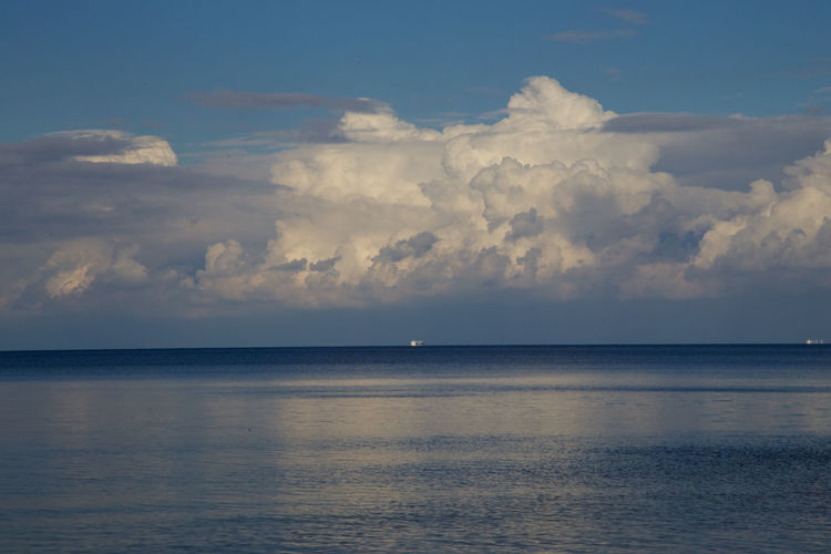 Scenic View Of Baltic Sea Against Cloudy Sky