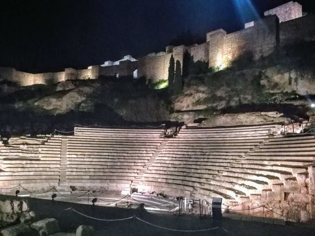 landscape Roman Theatre Night No People Outdoors Agriculture Illuminated Architecture Ancient Civilization History Built Structure