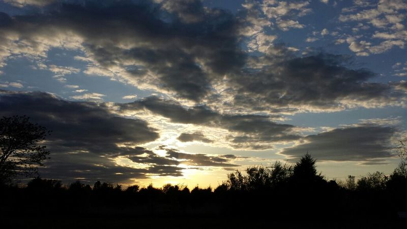 Sunset Oklahoma Sky No Filter