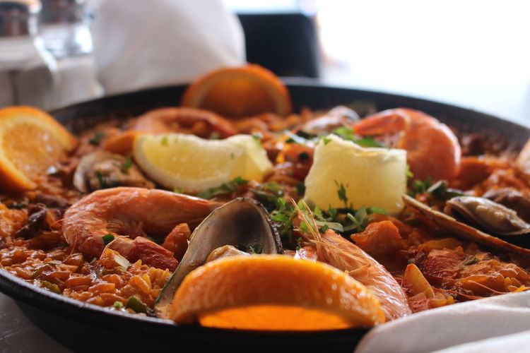 Close-Up Of Paella