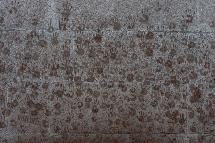 Handprints on
