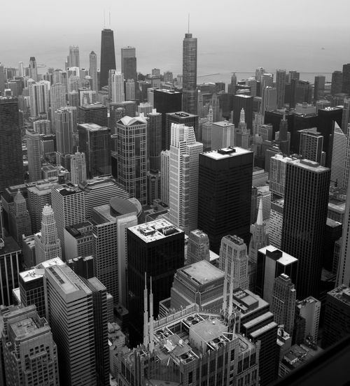 Aerial View Architecture Blackandwhite Buildings & Sky Built Structure Chicago Chicago Architecture Chicago Buildings Chicago Skyline City City Life Cityscapes Day Office Building Outdoors Sky Skyscraper Tall - High Urban Skyline The Architect - 2017 EyeEm Awards