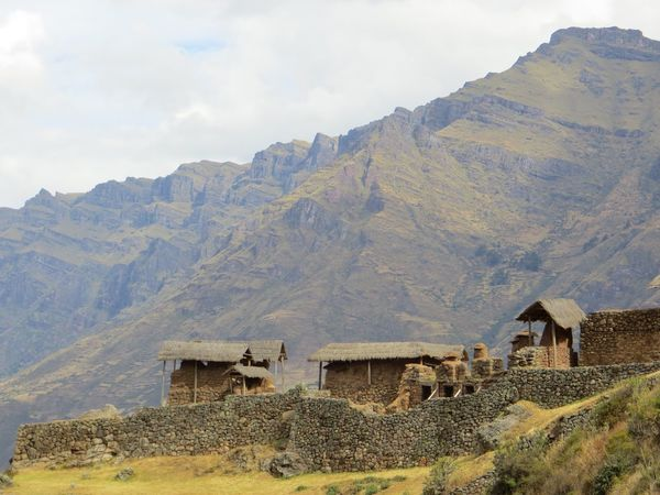 Mountain Building Exterior Built Structure House Architecture Field Mountain Range Day Outdoors No People Thatched Roof Landscape Rural Scene Nature Scenics Sky Beauty In Nature Inca Ruins Peru This Is Latin America