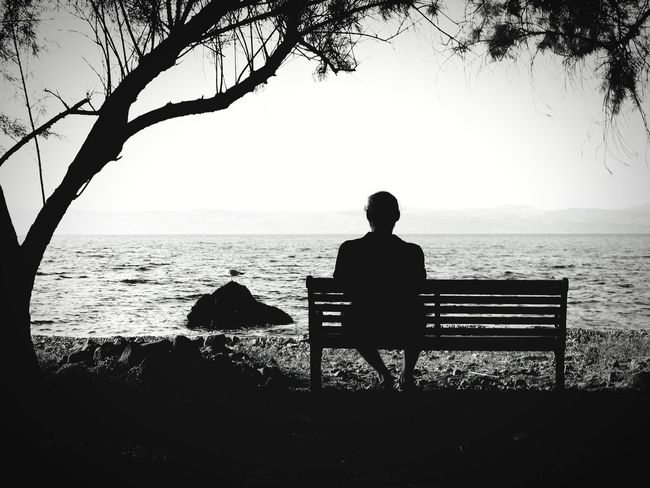 quiet moment Place of Heart Place To Be  Lonliness Quiet Moments View Ocean View Ocean Dream One Person Atmospheric Mood Mediteranean Still Life Backgrounds Structures Shadows & Lights Shadowplay EyeEm Best Shots EyeEm Nature Lover EyeEm Best Shots - Black + White