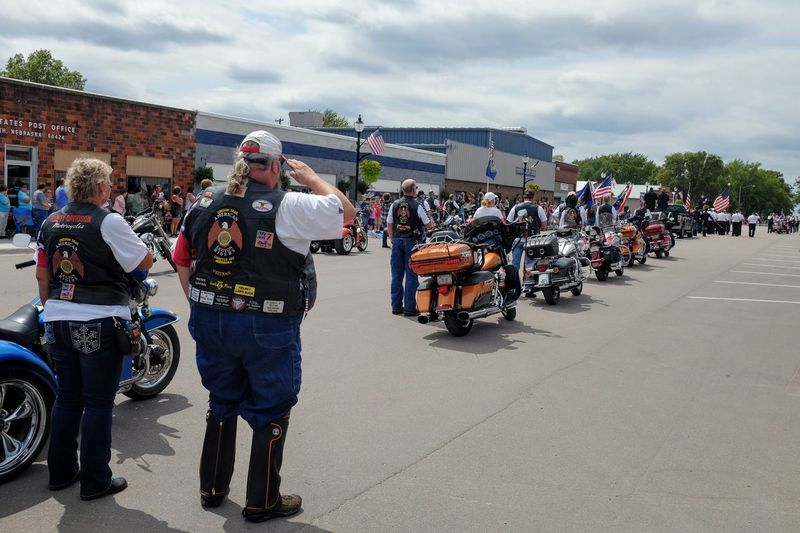 Village of Plymouth 125th Anniversary Celebration August 13, 2017 Plymouth, Nebraska Americans Bikers Country Living Documentary Photography Event EventPhotography Farm Village MidWest Nebraska Patriotism Plymouth, Nebraska Rural America Small Town America Summertime Biker Biker Life Day Fujifilm_xseries Helmet Large Group Of People Leather Jacket Men Motorcycle Motorcycles Outdoors Parade People Police Uniform Practicing Photography Real People Sky Small Town Life Small Town Stories Women