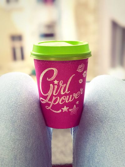 Girlspower Focus On Foreground Holding Coffee Break Coffee Coffee Time Coffee Cup Coffeelover Eyeemcoffee Pink Green Pink Cup Iphonephotography IPhoneography IPhone7Plus IPhone Photography Urban Lifestyle Coffe Addiction The Week On EyeEm EyeEmNewHere Mix Yourself A Good Time Mix Yourself A Good Time