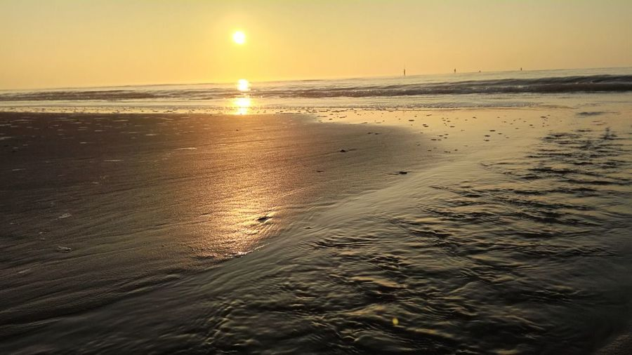 Sea Sunset Beach Sand Water Nature Sky Beauty In Nature Sun Outdoors No People Scenics Day Wave Sunlight Sunlight And Shadow Golden Hour Huawei Sea And Sky Shells🐚 Seascape Landscape_Collection Landscape Sky And Clouds Sunrise