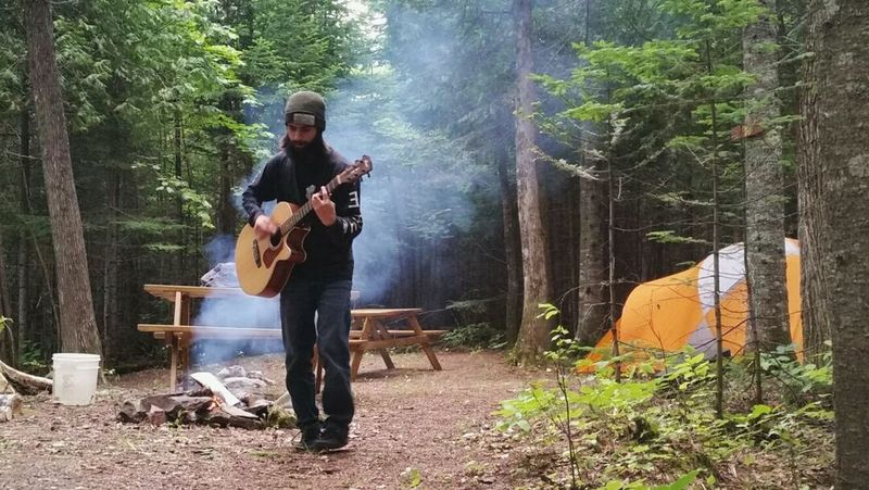 Men Musician Outdoors Tree People Nature Relaxing My Love My Favorite Person Guitar Guitarist Guitar Love Camping Campinglife Camping Trip! Camping In The Forest Camp Fire!!!! Camp Fire