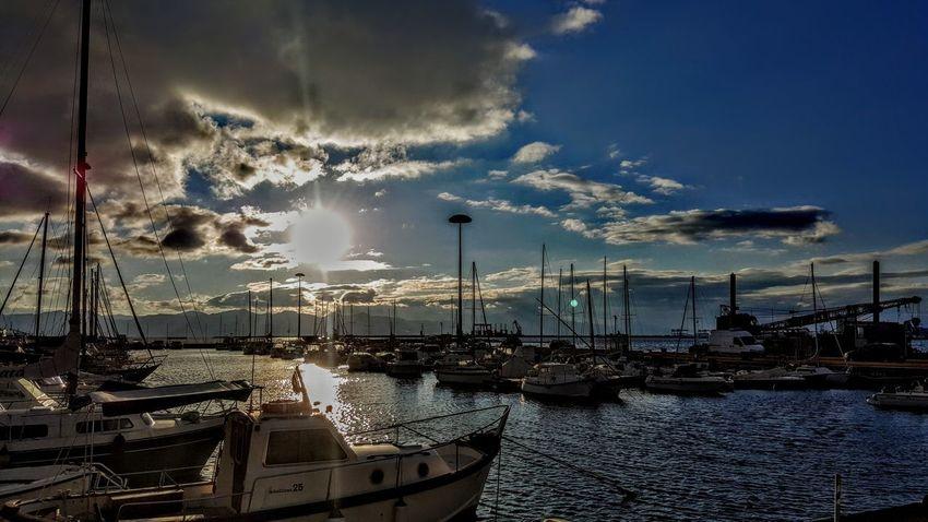 Mare ❤ Sea Sea And Sky Seaside Panorama Brilliant Colors EyeEm River Sardegna Instagramlove Sole Boat Sun Outdoors Harbor Nature City Water