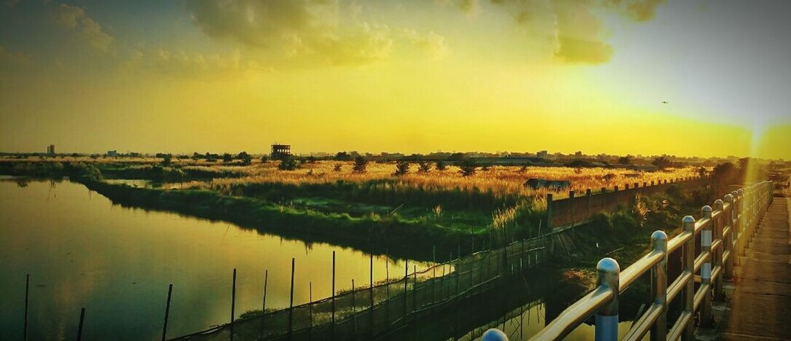 Sunset Water Horizontal Nature Beauty In Nature No People Landscape Sky Day Outdoors Hi! Color Palette Check This Out Dhaka, Bangladesh Mobography Nature Taking Photos Enjoying Life Natural Beauty Creativity