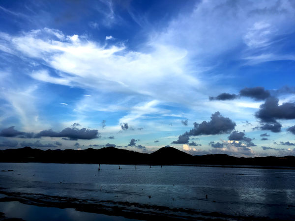 Blue Sky With Cloud Beauty In Nature Blue Blue Sky Cloud - Sky Country Countryside Day Lake Landscape Landscape_Collection Mountain Nature No People Outdoor Photography Outdoor Scene Outdoors Riverscape Riverside Scenery Shots Scenics Sky Tranquil Scene Tranquility Water Waterfront