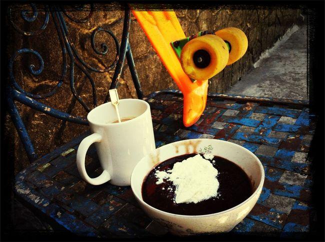 Champorado Coffee Penny Board Breakfast