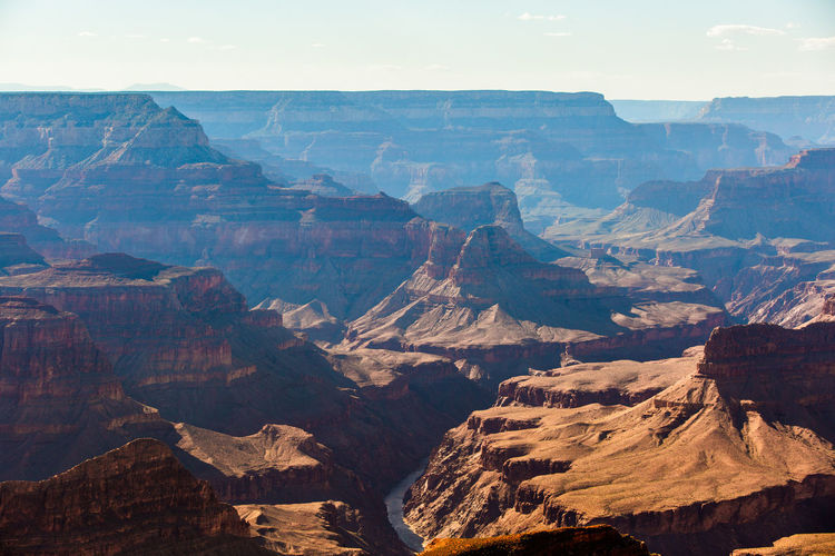 The deep canyon landscape carved and shaped by the colorado river - grand canyon, usa