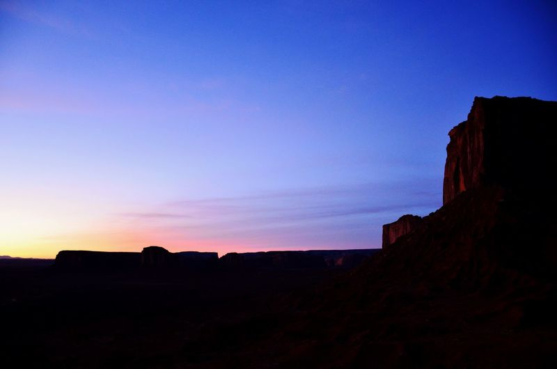 Monument Valley sunrise in blue. Desert Silhouettes Sunrise Monument Valley Amazing Views The Great Outdoors - 2016 EyeEm Awards The Great Southwest Epic Landscapes Backgrounds Peace In Nature Painted Sky Rainbow Colors Eyeem Sunset-sunrise Famous Places Shades Of Blue Pleasures Of Life Southwest Desert Landscapes