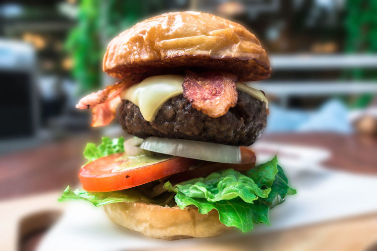 Juicy burger on
