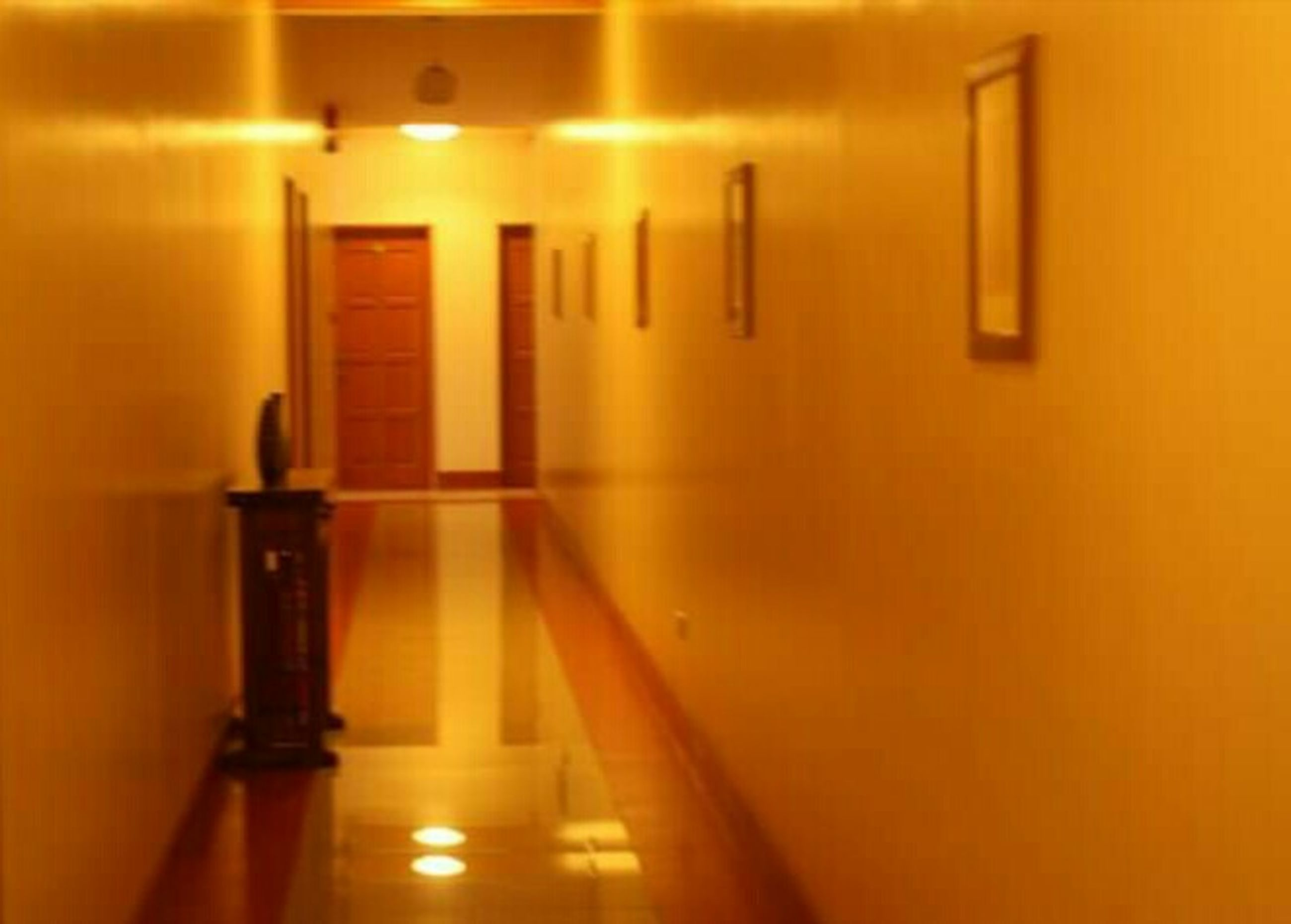indoors, illuminated, wall - building feature, lighting equipment, built structure, in a row, light - natural phenomenon, architecture, no people, wall, flooring, yellow, wood - material, selective focus, shadow, empty, close-up, reflection, absence, home interior