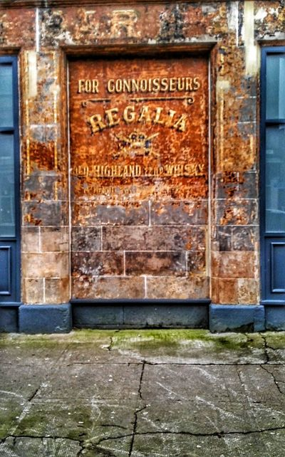 Ghost Signs  Advertisment Painted Wall Regalia Whisky