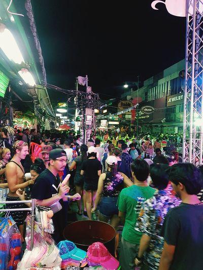 ข้าวสาร Popular Music Concert Crowd Carousel Nightlife Illuminated Men Arts Culture And Entertainment Women Amusement Park Ride Amusement Park Summer In The City