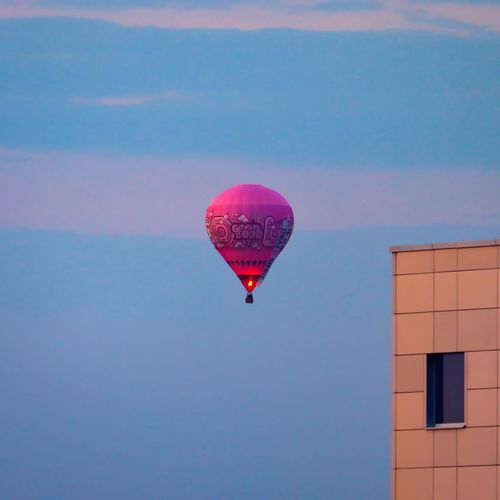 View of hot air balloon against sky