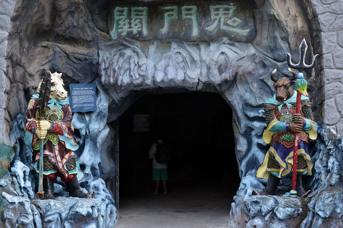 Scenes from Haw Par Villa in Singapore Architecture Chinese Day Entrance Folklore Hell Legends Multi Colored Mythology No People Outdoors Place Of Worship Singapore Statue Statue Strange Theme Park