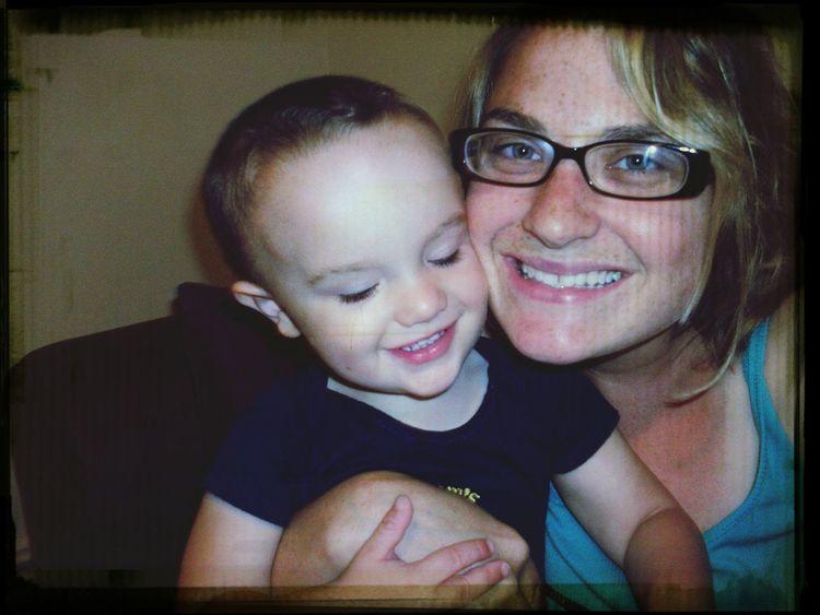 C.J. winning his mommy's heart..