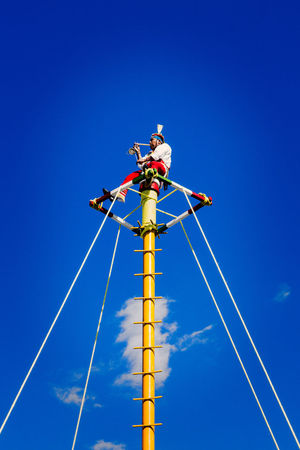 Voladores de Papantla Blue Clear Sky Culture Day Folk Folklore Tradition Voladores De Papantla