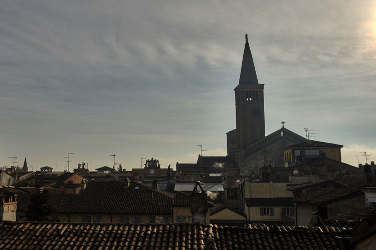 Piacenza, Italy - December 2018 Piacenza Italy Skyline Architecture Built Structure Building Exterior Building Roof Cloud - Sky Sky City Tower Place Of Worship Religion Residential District Nature Spirituality Belief Town Travel Destinations Crowd Outdoors Roof Tile Spire  TOWNSCAPE My Best Photo