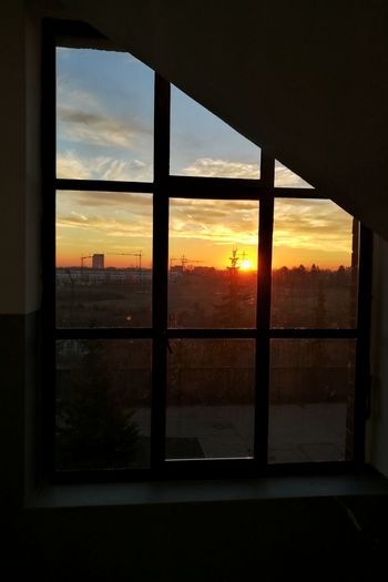 Window Sunset Sky Cloud - Sky City Travel Destinations Cityscape Urban Skyline Indoors  No People Airplane Architecture Day Adapted To The City Huawei Huawei p9