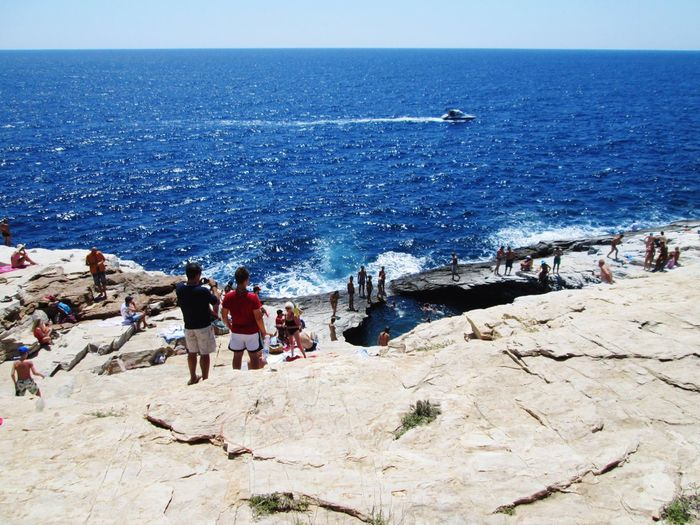 Giola Pool Nature Pool Greece Thassos Thassos Island Thasos Thasosisland Thasos Island Blue Water Ocean Sea Sea And Sky Rocks Boat Waves Crowd Crowded Landscape Great Look Greece Travel Beauty Summer Live For The Story